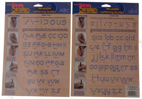 Lot 24 Starter Strokes Ken Brown Reusable Teaching Guide Alphabet Lettering - FUNsational Finds - 1