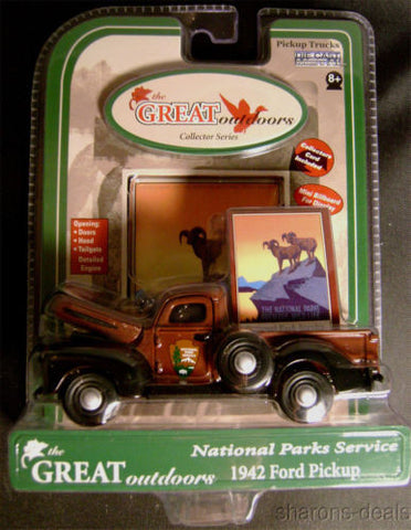 Great Outdoors Die Cast 1942 Ford Pickup National Parks Service Gearbox Toys NIB - FUNsational Finds
