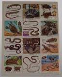 Golden Stamp Book Snakes Turtles Lizards Stickers 4th Printing 1973 Smith Irving - FUNsational Finds - 2