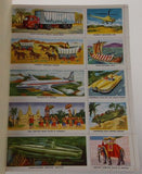Golden Play Book Transportation Stamps Stickers Cooke 1955 Vintage Train Jet Car - FUNsational Finds - 6