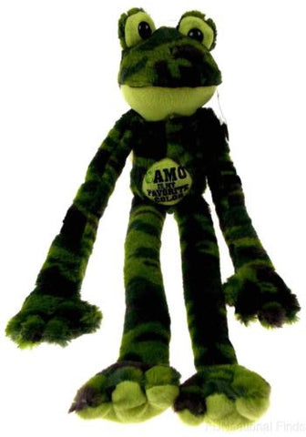 Peace and Love Frog Camo Is My Favorite Color Hanging Plush Embroidered Green - FUNsational Finds - 1