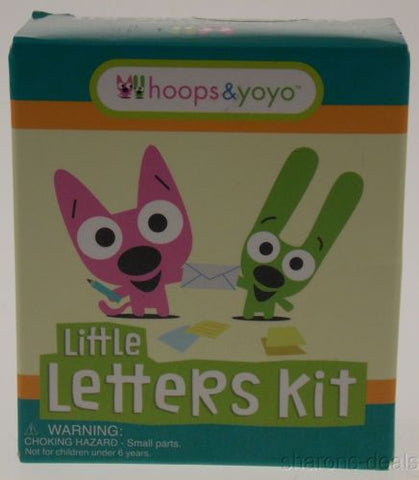 Lot 3 Hoops & Yoyo Little Letters Mega Mini Kit Running Press Stickers Envelopes - FUNsational Finds - 1