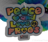Lot 2 Peace and Love Frogs Perf Perfect Soft Plush Hanging Embroidered - FUNsational Finds - 5
