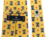 Lot 10 Olimpo 100% Silk Neckties Blue Brown Yellow Orange Classic Dress Business - FUNsational Finds - 3