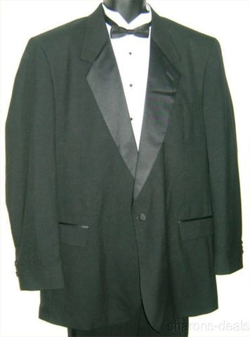 NEW 46XL Ffinati Black Tuxedo 1 Button Fine Wool Jacket Coat Formal Wedding USA - FUNsational Finds - 1