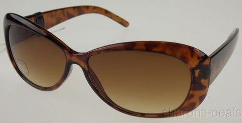 Attention Sunglasses 100%UV Protection Brown Tortoise Plastic Oval 60-15-130 NEW - FUNsational Finds - 1