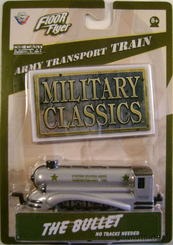 Floor Flyer Military Classics Army Transport Train Bullet Engine Die Cast Metal - FUNsational Finds