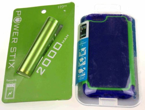 Blue Green Cell Phone Case iPhone 6 Textured 2000 MAH External Battery Charger - FUNsational Finds - 1
