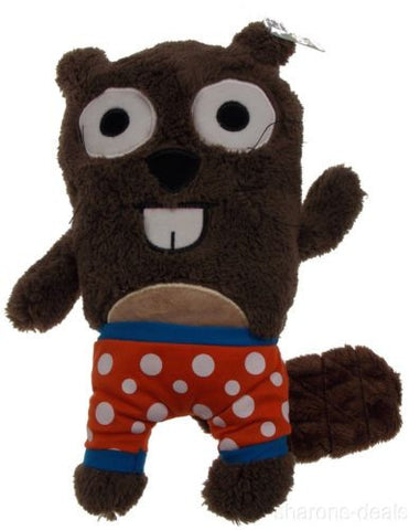 "Gund Bear In Underwear Bucky Beaver Brown Plush Friends 12"" Undies Whiskers NEW - FUNsational Finds - 1"