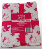 "Studio BGD Ninja Coral Fleece Plush Throw Blanket Cover Atomic Pink White 50x60"" - FUNsational Finds - 2"