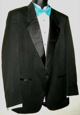 Christian Dior Tuxedo Jacket 40L Monsieur Black Pinstripes Coat Wedding Formal - FUNsational Finds - 1