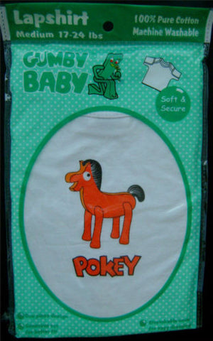 NEW Choice Gumby Baby 100% Cotton Lapshirt Pokey Horse White Shirt Toddler Soft - FUNsational Finds - 1