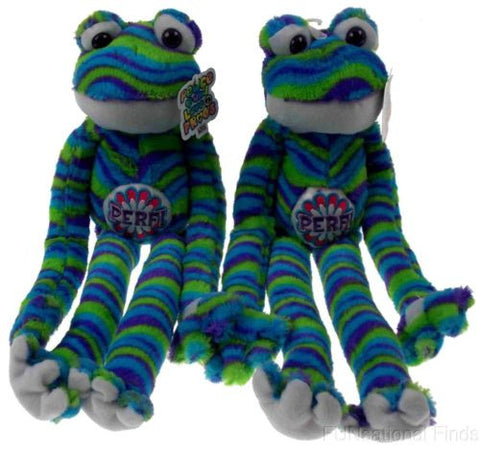 Lot 2 Peace and Love Frogs Perf Perfect Soft Plush Hanging Embroidered - FUNsational Finds - 1