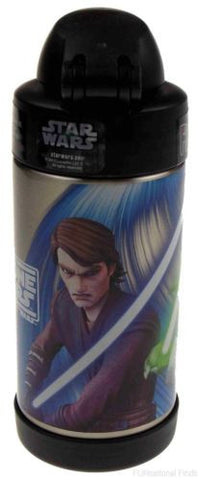 Thermos FUNtainer Star Wars Clone Wars Insulated Bottle 10 Oz Yoda ObiWan Anakin - FUNsational Finds - 1