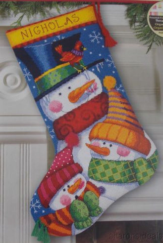 "Dimensions Needlepoint Freezin Season Stocking Debra Jordan Bryan 16"" 72-109139 - FUNsational Finds - 1"