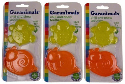 Lot 3 Garanimals Chill Chew Teether Snail Turtle Baby Biting Toy Dishwasher Safe - FUNsational Finds - 1