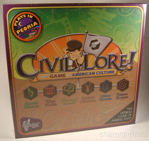 Civil Lore Board Game American Culture Evolving Toys 2-6 Players Teams Made USA - FUNsational Finds