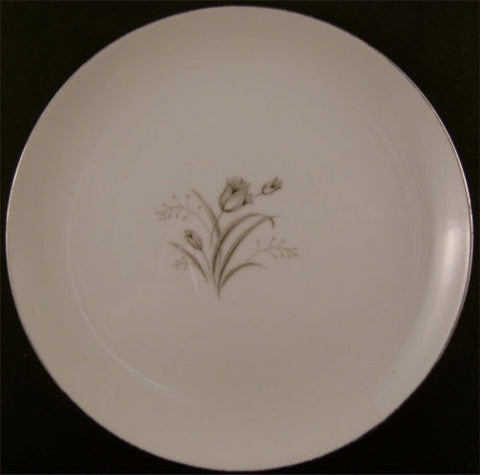 "Creative Royal Elegance Bread & Butter Gray Rose 6 3/8"" Small Plate Silver China - FUNsational Finds - 1"