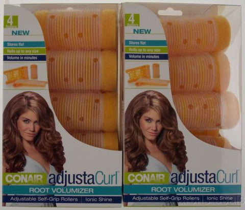 Lot 2 Conair Adjusta Curl Root Volumizer Adjustable Self Grip Hair Rollers Ionic - FUNsational Finds - 1
