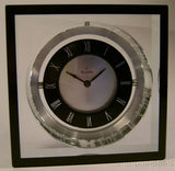 NEW Bulova B9860 Orion Executive Desk Clock Pivoting Clear Crystal Black 2.5 lbs - FUNsational Finds - 3