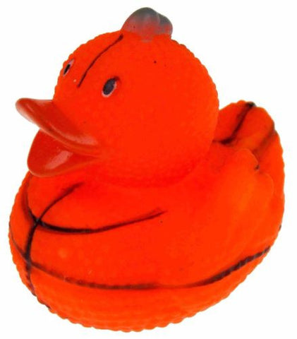 Set 12 Basketball Sports Rubber Ducks Duckie Party Favors Cake Toppers Dozen NEW - FUNsational Finds - 1