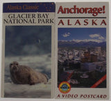 VHS VCR Tapes Lot 2 Anchorage Alaska Collection Glacier Bay National Park NEW - FUNsational Finds - 1