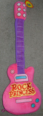 "27"" Rock Princess Guitar Pillow Pink Purple Plush Soft Toy Girl Room Decor Soft - FUNsational Finds - 1"
