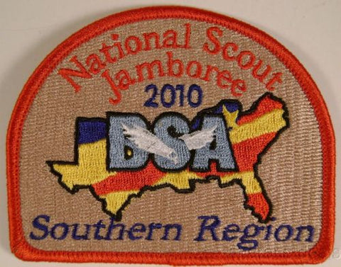 Lot 3 BSA 2010 Jamboree Embroidered Southern Region Patch Boy Scout NJ Flag NEW - FUNsational Finds - 1