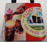 Coca Cola Vinyl Tote Bag Coke Shoulder Beach Messenger Hobo Satchel Licensed NWT - FUNsational Finds - 1
