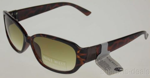 Nine West Oval Sunglasses Brown Tortoise 100%UV Case 60-17-145 Plastic Large NEW - FUNsational Finds - 1