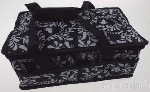 Black White 13 x 8 Rectangle Casserole Food Dish Insulated Travel Carry Bag Tote - FUNsational Finds - 1