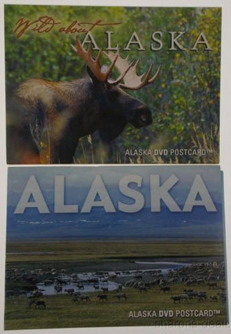 Lot 2 DVD Postcards Wild About Alaska Bull Moose Caribou Wildlife Refuge Eagles - FUNsational Finds - 1