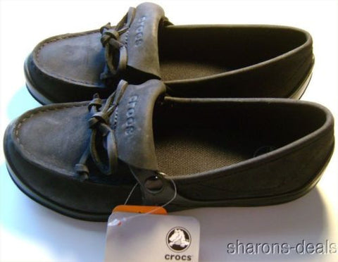 Womens Crocs Suede Nubuck Wrapped Loafer Bow Croslite Lightweight Brushed Lined - FUNsational Finds - 1