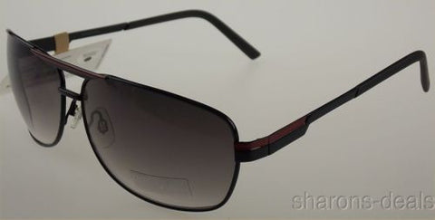 Levi Strauss DOCKERS Sunglasses 100% UV Protection Black Red Pilot 65-14-137 NEW - FUNsational Finds - 1