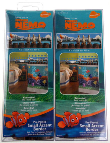 Disney Pixar Finding Nemo Removable Pre Pasted Small Accent Wall Border Lot 2