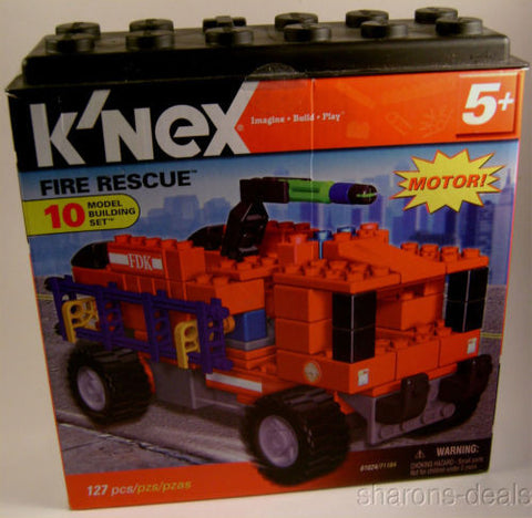 K'NEX Fire Rescue 10 Model Building Set Motor Imagine Build Play Toy KNEX 127 pc - FUNsational Finds