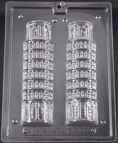 "7.5"" Leaning Tower Of Pisa Chocolate Mold Life Of The Party 3D M187 Candy NEW - FUNsational Finds - 1"