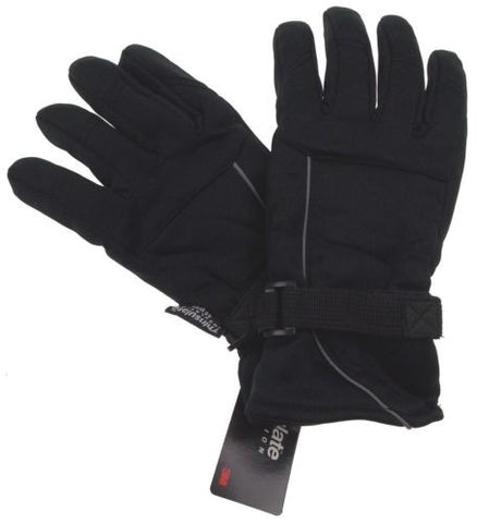 Black Structure Gloves 3M Thinsulate Winter Sport Mens One Size NWT - FUNsational Finds - 1