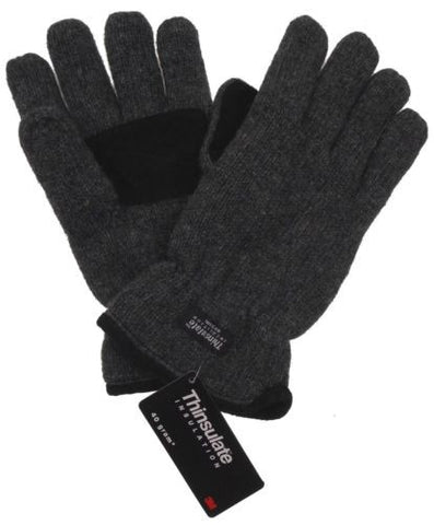 Gray Structure Wool Driving Gloves 3M Thinsulate Lined Mens Winter Snow Warm NEW - FUNsational Finds - 1