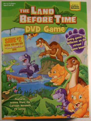 Land Before Time Virtual DVD Game Cartoon Network TV Series Poster Stickers NIB - FUNsational Finds - 1