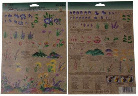 Lot 35 FolkArt One Stroke Reusable Painting Teaching Guide Wild Flowers 1135 NEW - FUNsational Finds - 1