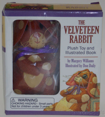 Lot of 2 The Velveteen Rabbit Plush Toy Book Margery Williams 2014 Easter Gift - FUNsational Finds - 1