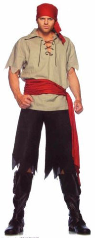 Leg Avenue Cutthroat Pirate S/M Halloween Costume Cosplay Shirt Pants Sash Purim - FUNsational Finds - 1