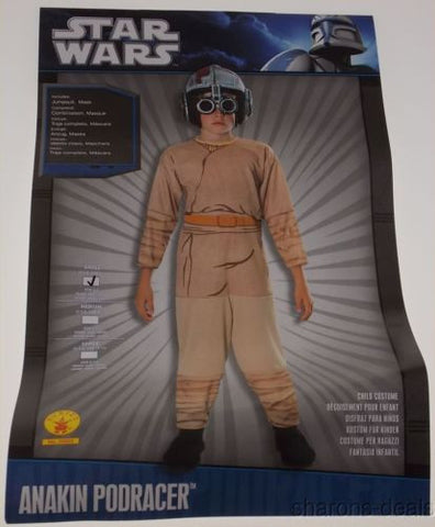 Star Wars Anakin Podracer Costume Halloween Cosplay Child Youth Small 4-6 Purim - FUNsational Finds - 1