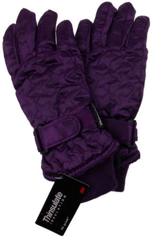 Joe Boxer Girls Quilted Winter Gloves 3M 40g Thinsulate Snow Ski Hiking Warm NEW - FUNsational Finds - 1