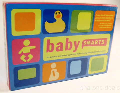 Lot 2 Baby Smarts 60 Question & Answer Cards Babies Fun Way to Learn Shower Game - FUNsational Finds