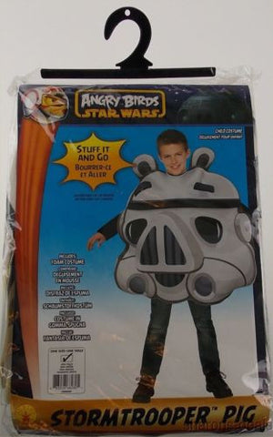 Angry Birds Star Wars Pig Storm Trooper Child Costume Black White Rubies Purim - FUNsational Finds