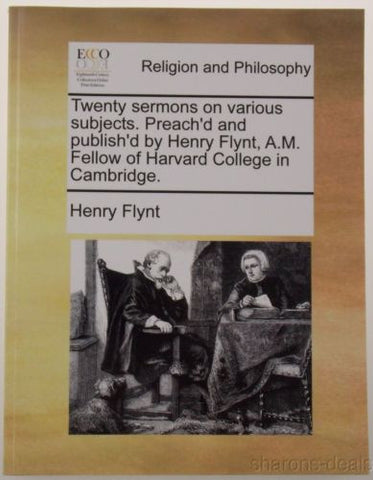 Twenty Sermons Preachd and Publishd Henry Flynt 2010 PB Hume Kant Rousseau NEW - FUNsational Finds - 1