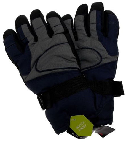 Athletech Mens Blue Gray Black Ski Gloves 3M Thinsulate Insulation Waterproof - FUNsational Finds - 1