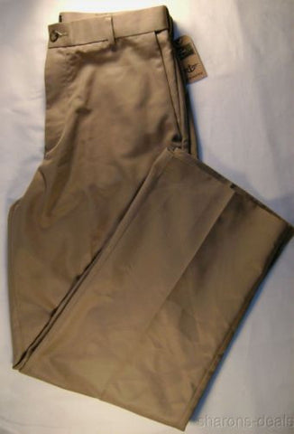 Dockers D3 Classic Fit W30 L30 Dress Microfiber Khaki Flat Front Brown Polyester - FUNsational Finds - 1